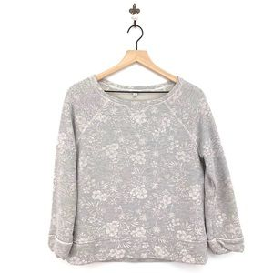 Soft Joie Floral Emma Sweatshirt Dolphin Gray XS